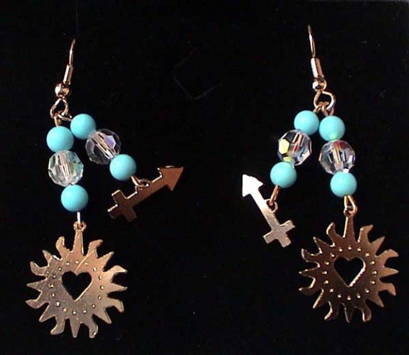 AstroCharms Sagittarius Earrings - Double