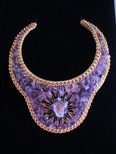 Atlantean Queen Amethyst Goddess Collar