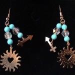 AstroCharms Sagittarius Earrings - Double