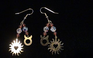 Taurus Zodiac Earrings with Gems